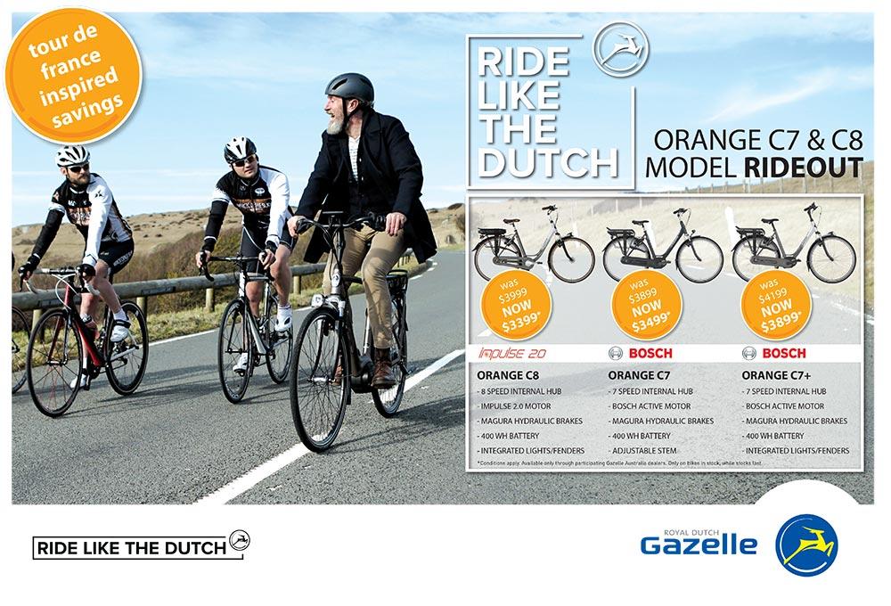 Gazelle electric bikes in Perth rideout sale