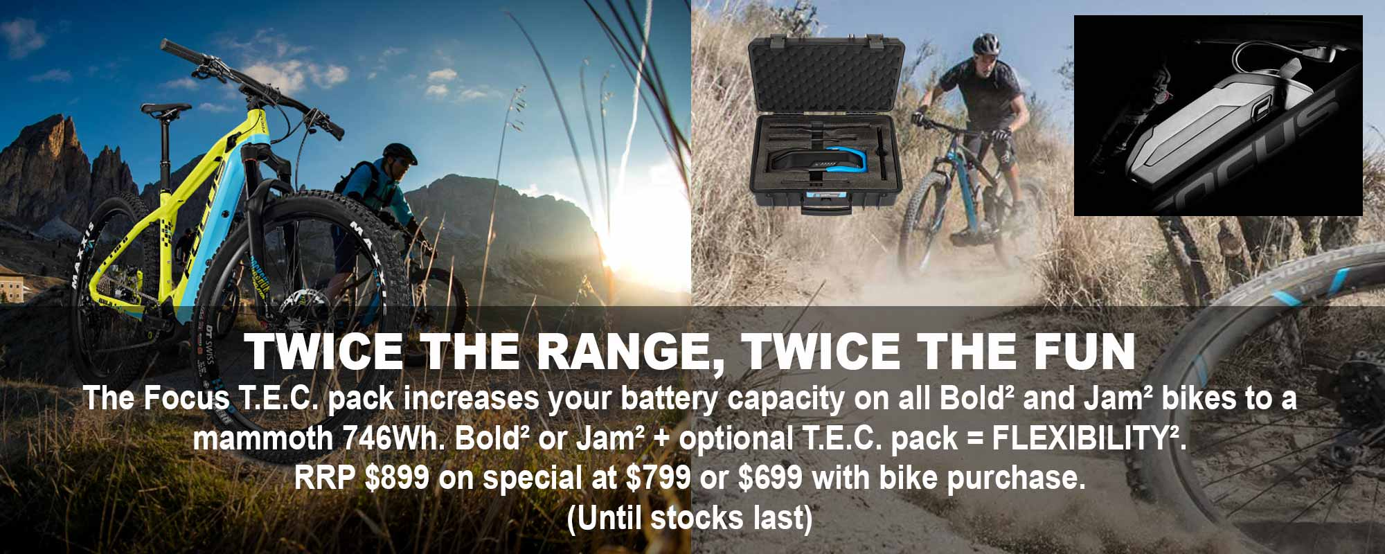 Focus TEC pack special deal|Electric Bikes Perth